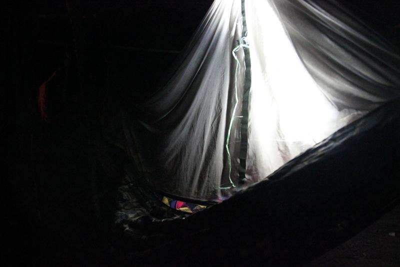 Nachtruhe in Hängematten