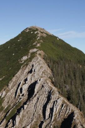 Gratwanderung zum Gipfel der Brecherspitze