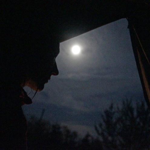 Zelteln bei Mondenschein