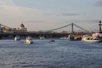 Bootsfahrt auf der Moskwa