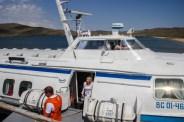 Das Tragflächenboot Kometa bringt unsin sechs Stunden nach Severobaikalsk, im Nordosten des Baikalsees