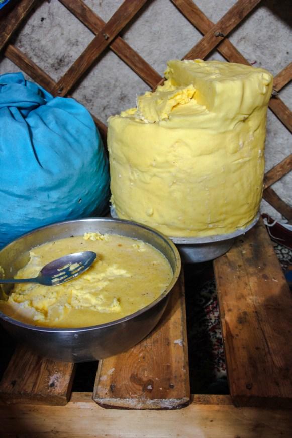 Butter steht überall in unserer Jurte