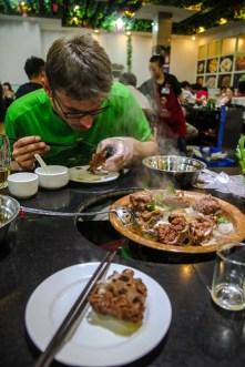 Hotpot essen in Peking