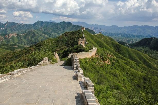 Letzter Blick auf die Mauer von Jinshanling