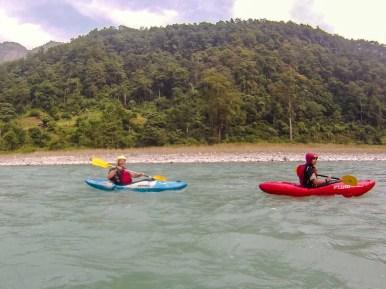 Bodo und ich in ruhigen Gewässern