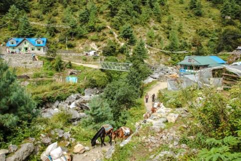 Eins der zahlreichen Sherpa Dörfer auf dem Trek