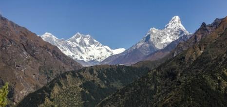 Nuptse, Mt Everest und Ama Dablam
