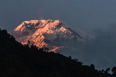 Annapurna South beim Sonnenuntergang