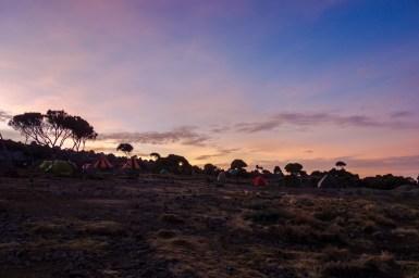 Sonnenuntergang am Shira Plateau