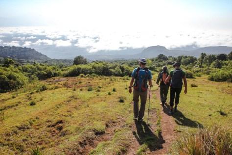 Abstieg von der Miriakamba Hütte
