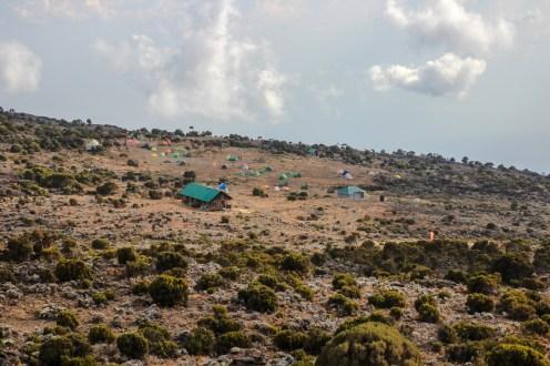 Blick zum Shira Plateau Camp