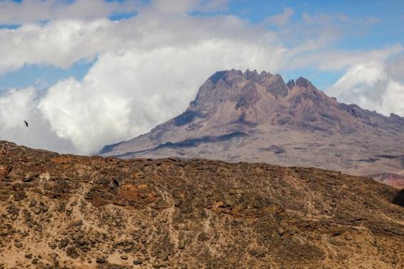 Blick zum Mawenzi, einem weiteren Kilimanjaro Gipfel