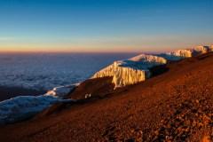 Gletscher am Kilimanjaro