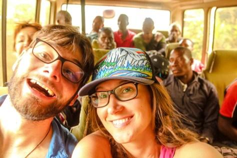 Im Bus zurück nach Moshi