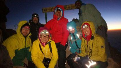 Gipfelsieg am Meru - kalt ist's!