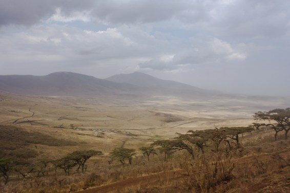 Massaihütten im Ngorongoro Krater