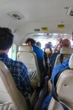 In der kleinen Cessna