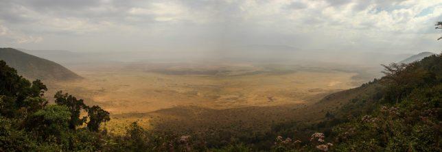 Blick in den Ngorongoro Krater