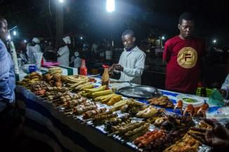 Nachtmarkt in den Forodhani Gardens