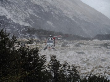 Helikopterbesuch am Morgen