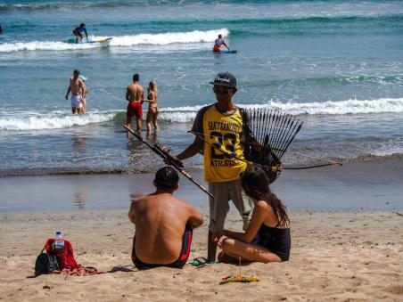 Verkäufer am Kuta Beach