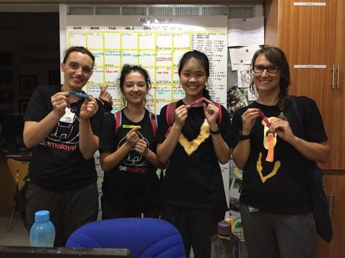 Die internationalen Freiwilligen beim BSBCC