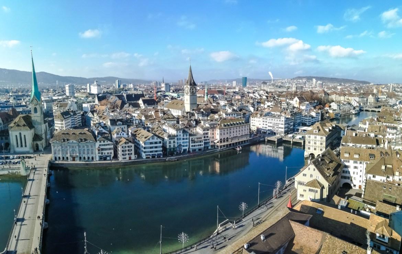 Zürich vom südlichen Karlsturm