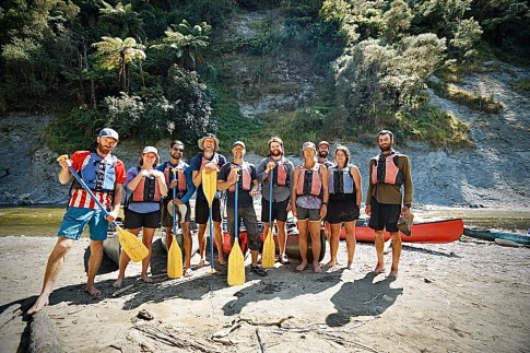 Unsere Gruppe auf dem Whanganui River
