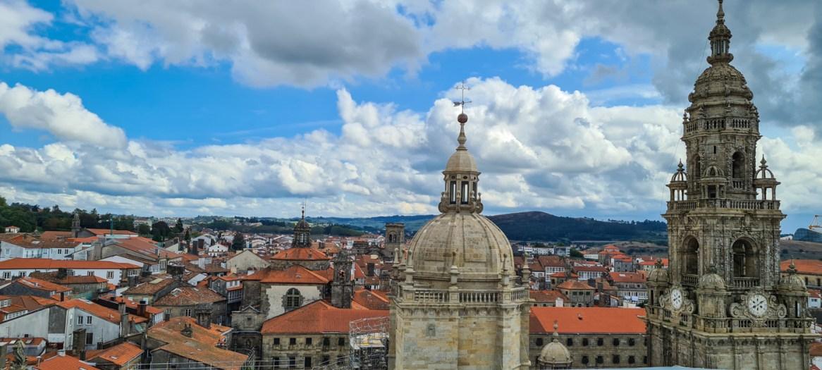 Santiago de Compostela von oben