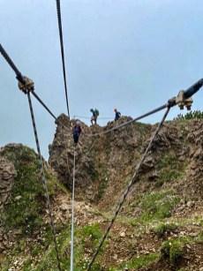 Seilbrücke im Marokka Klettersteig