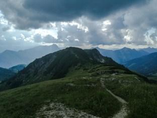 Blick zu den weiteren zwei Gipfeln Frechjoch und Thalerjoch