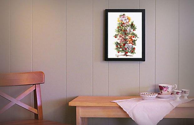 A Baaahrtridge in a Bear Tree Wall Art