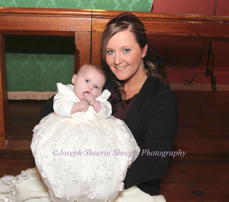 Christening Mother and Baby
