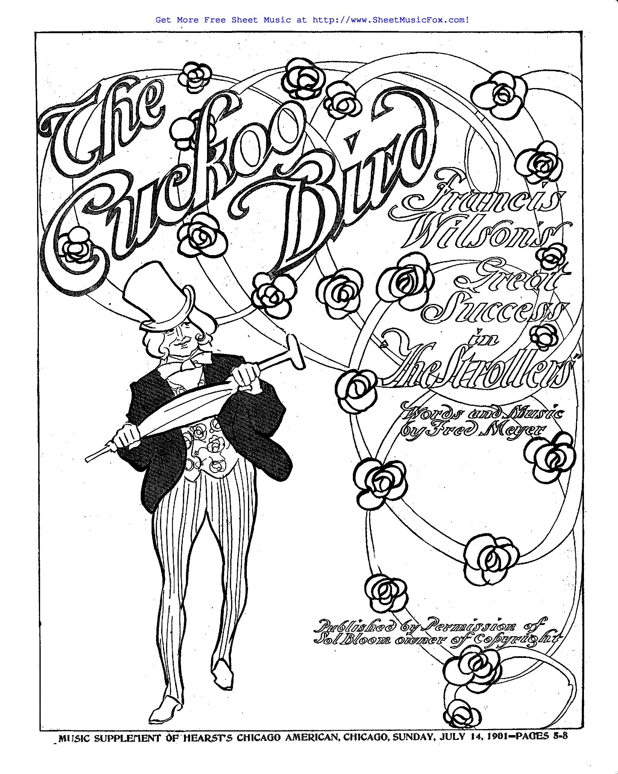 Free sheet music for The Cuckoo Bird (Meyer, Fred) by Fred