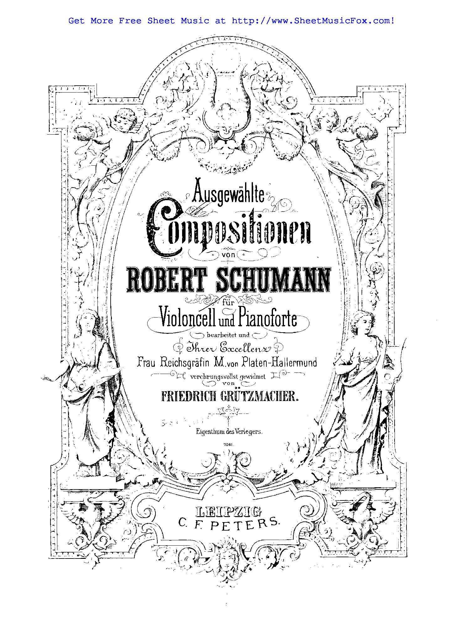 Free sheet music for Kinderszenen, Op.15 (Schumann, Robert