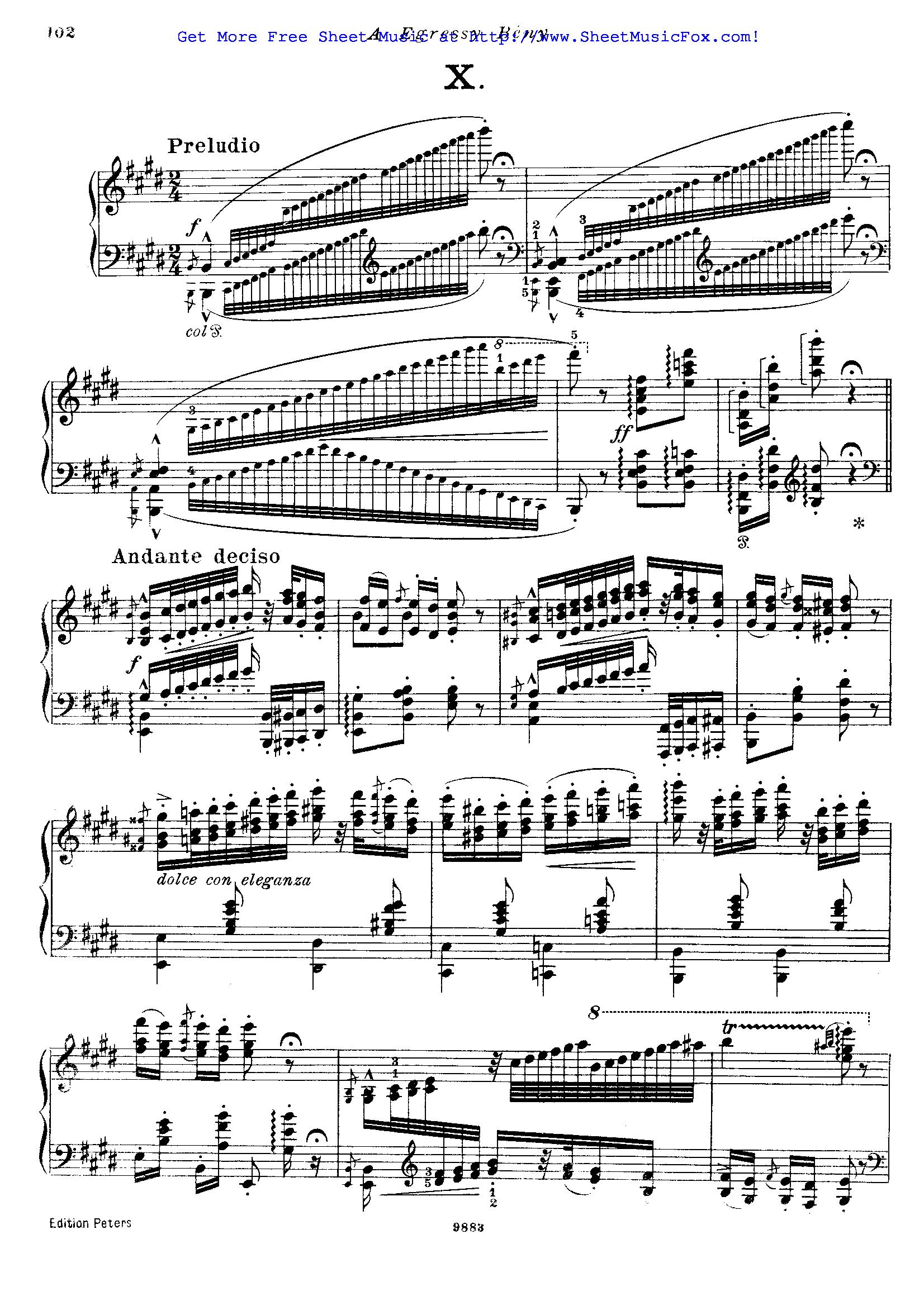 Free sheet music for Hungarian Rhapsody No.10, S.244/10