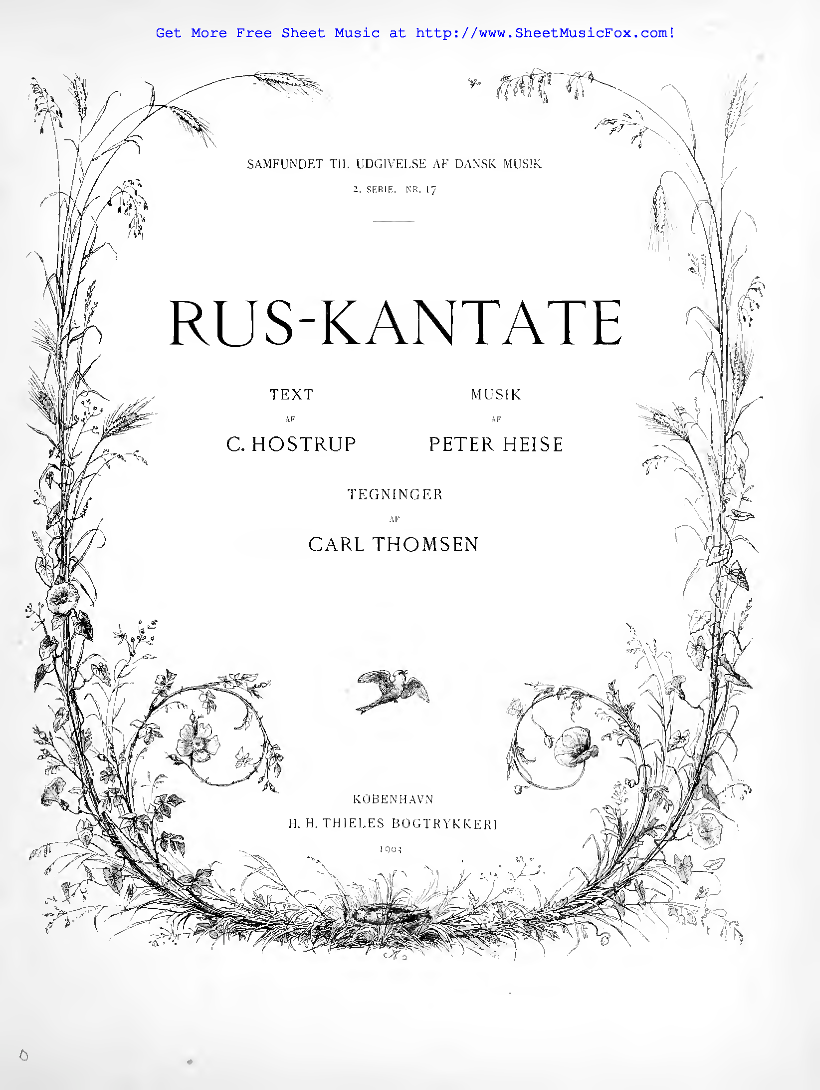 Free sheet music for Ruskantate (Heise, Peter) by Peter Heise
