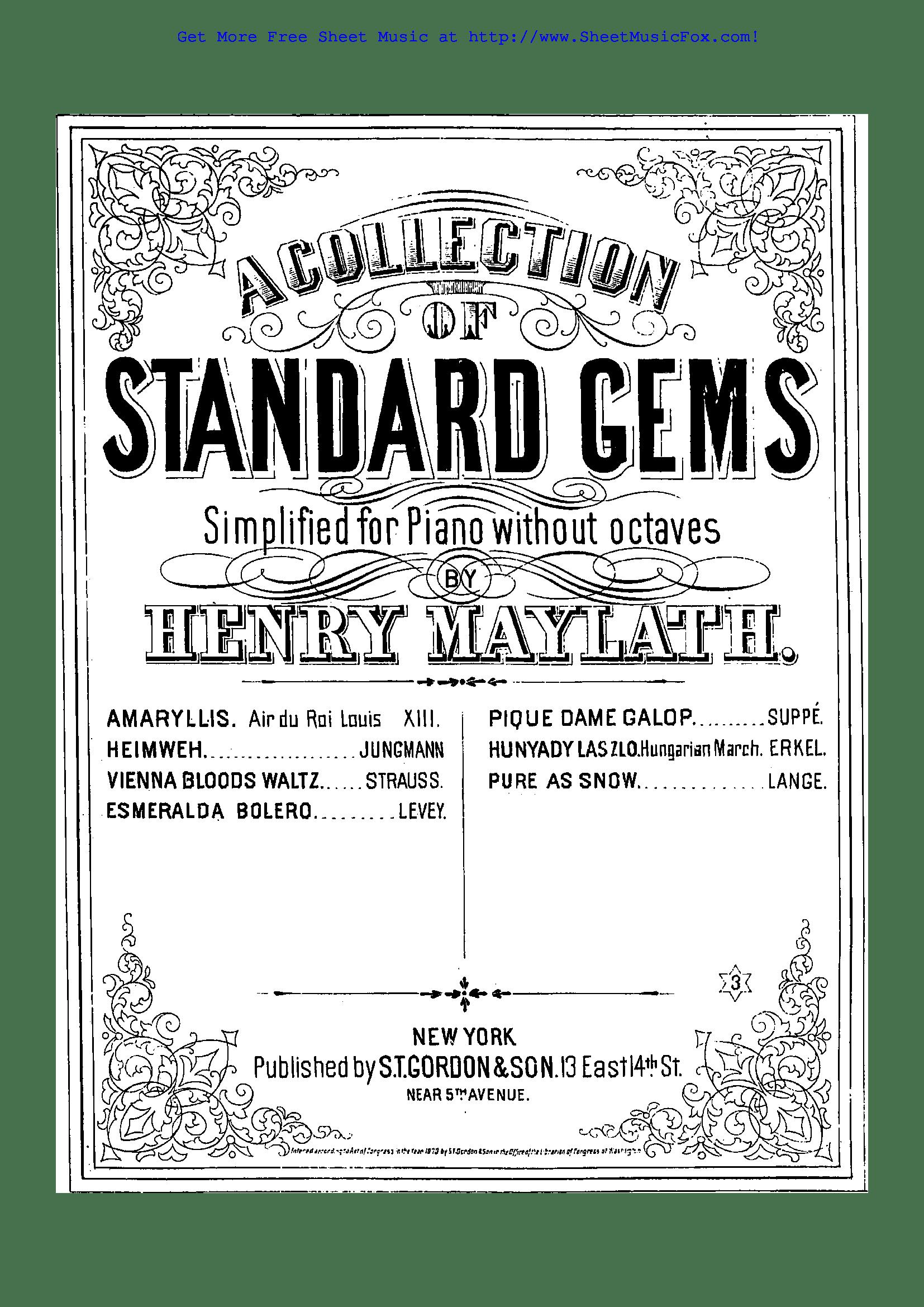 Free sheet music for Edelweiss, Op.31 (Lange, Gustav) by