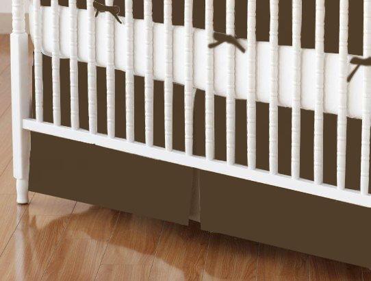 Crib Skirt Solid Brown Woven  Crib Skirts Sheets  Sheetworld