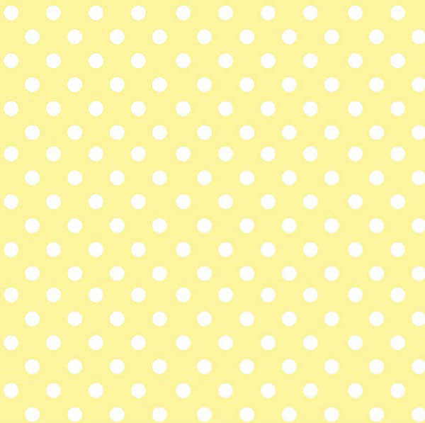 Pastel Yellow Polka Dots Woven  Portable  Mini Crib