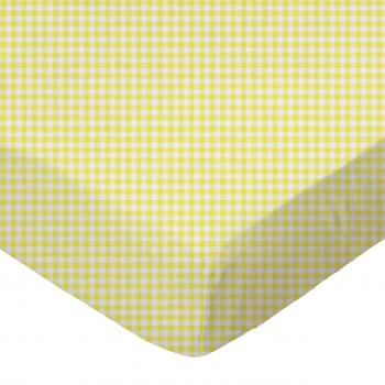 Primary Yellow Gingham Woven  Crib  Toddler Sheets  Sheetworld