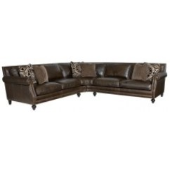 Bernhardt Brae Sectional Sofa Plaid Throws Sectionals