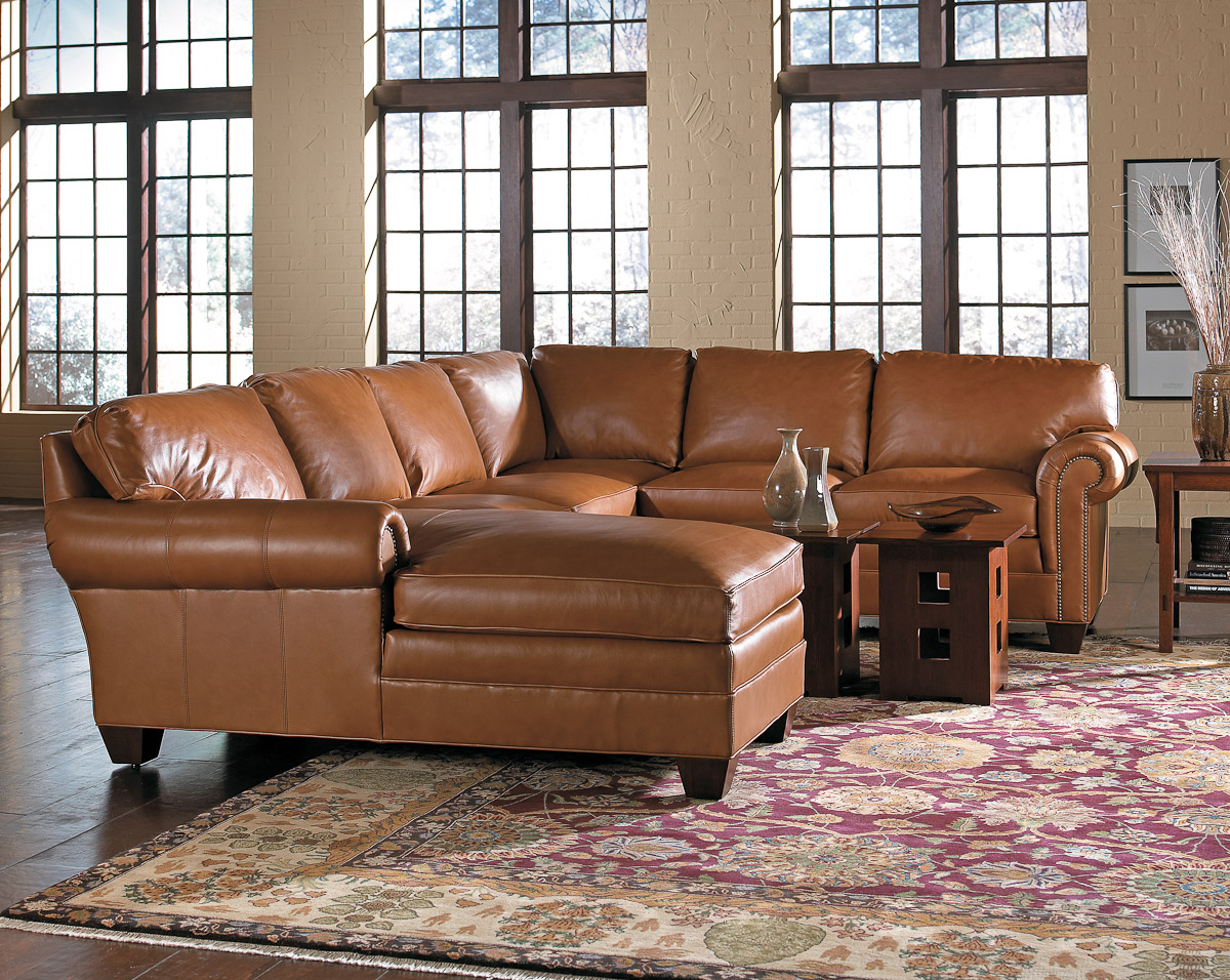 stickley furniture leather sofas long skinny sofa tables living room