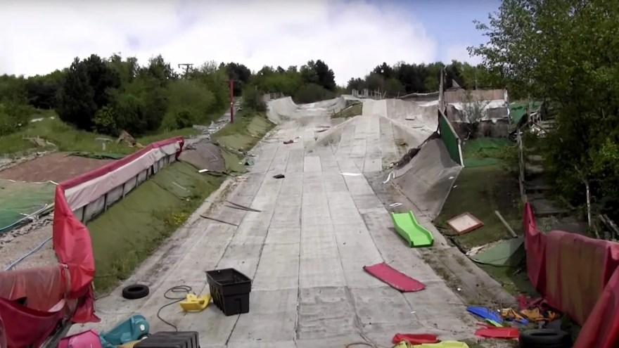 Vandalised slope