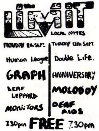Flyer featuring Human League and (Deaf) Def Leppard