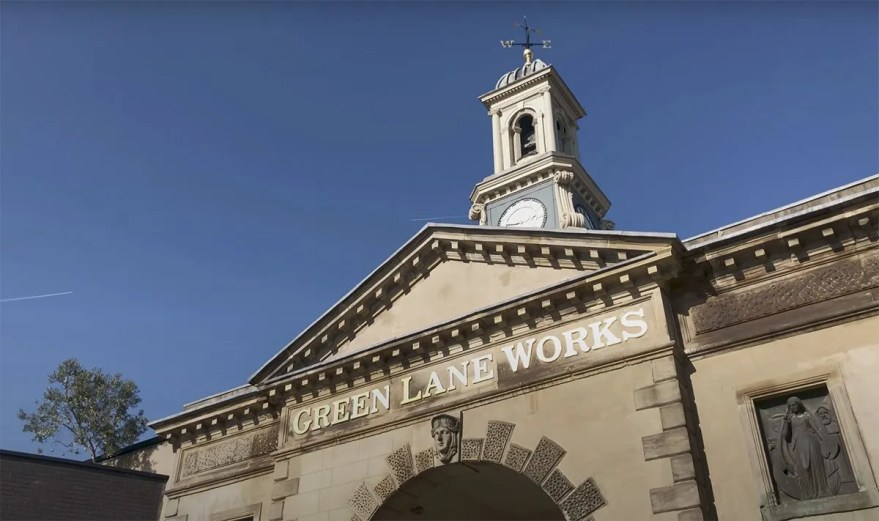 Green Lane Works Entrance and Clocktower