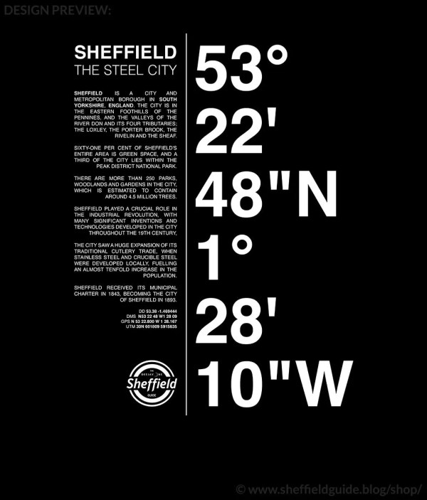Sheffield Coordinates Design Preview
