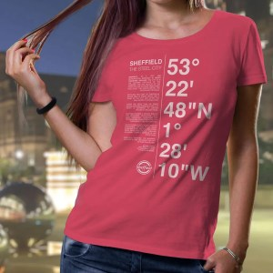 Sheffield Coordinates Ladies T-Shirt (Raspberry)