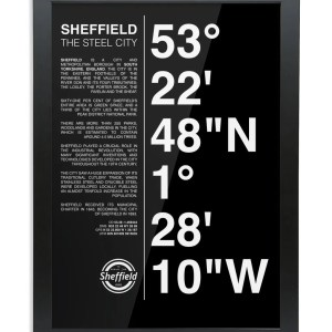 Sheffield Coordinates Framed Art Print