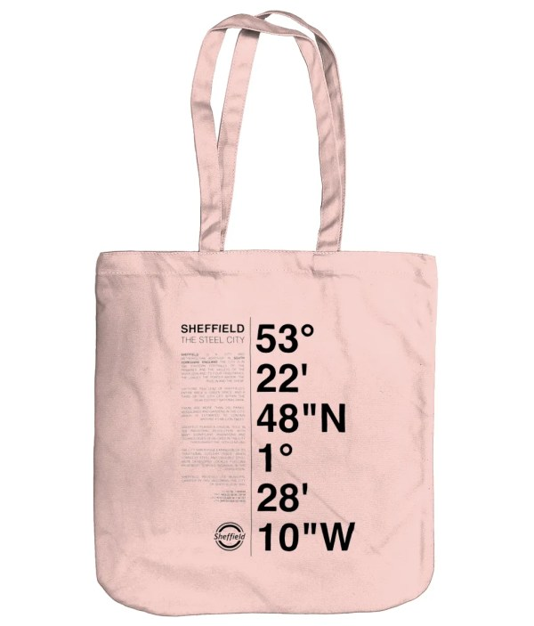Sheffield Coordinates EarthAware Organic Spring Tote Bag (Pastel Pink)